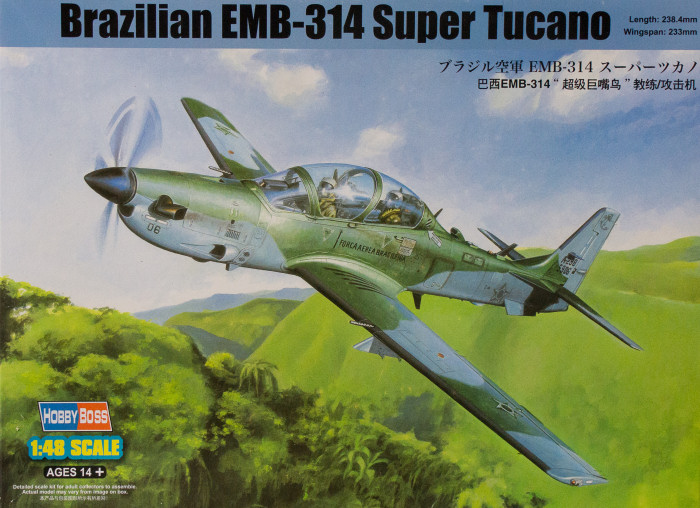 Embraer A-29 Super Tucano, Hobby Boss, 1/48