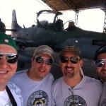 Rafael, Júlio, Tandil e Bob Leo na linha de voo da Base Aérea de Anápolis - 2014.