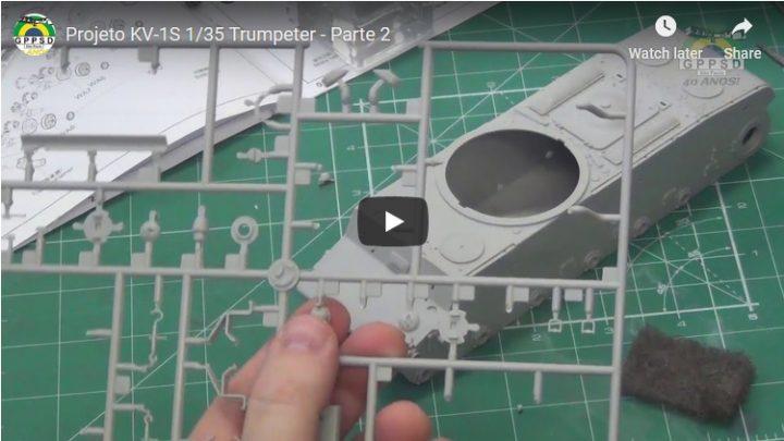 Projeto KV-1S 1/35 Trumpeter – Parte 2